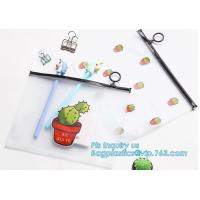 Buy cheap Sale Direct Custom Clear Vinyl Transparent PVC Slider Zip lock Bag, Different Size Plastic Document Bag, Non-toxic odorl from wholesalers