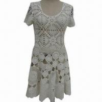 Buy cheap Women's Crochet Sweater Dress, Made of Coton Yarn from wholesalers
