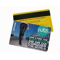 Buy cheap Credit Card Size cr80  pvc/plastic card with chip and magnetic stripe,Hico magnetic strip CR80 magnetic stripe card product