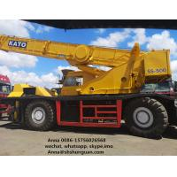 Buy cheap KATO SS500 Used Rough Terrain Crane 8 Cylinders 5 Levels Transmission from wholesalers