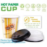 Buy cheap Biodegradable coffee paper cup with lid custom printed paper cup,3oz 5oz 6oz 8oz ice cream paper cup and paper lid pack from wholesalers