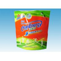 Buy cheap Custom Printed Stand Up Pouches , washing powder packaging bags With Three Handles from wholesalers