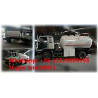 Buy cheap LAOS Market 8CBM 10CBM 12CBM 15CBM LPG bobtail truck for sale, CLW brand 8,000L-15,000L LPG gas refilling truck for sale from wholesalers