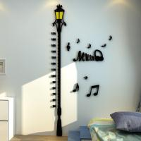 Buy cheap 3d Street road lamp  Wall Decoration Sticker Measuring Kids Height Wall Stickers Height Wall Sticker Children from wholesalers