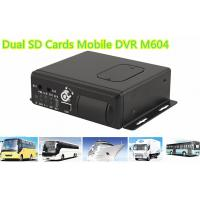 Buy cheap H.264 Dual SD Cards 3G WIFI Car 4 channel Mobile DVR With GPS Tracking from wholesalers