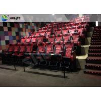 Buy cheap Red Motion Chair 4d Movies Theaters With Cup Holder Play Long Movie product