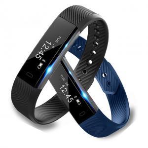 China Smart Bracelet Fitness Tracker Watch Alarm Clock Step Counter Smart Wristband Band Sport Sleep Monitor Smartband on sale