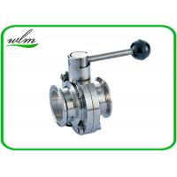 Buy cheap Full Port Butterfly Valve Sanitary , High Performance Butterfly Valves For Food Machines from wholesalers
