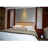 Buy cheap Custom Rosewood Shiny Color Finish Star Hilton Hotel Bedroom Furniture from wholesalers