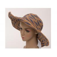 Buy cheap 58cm Raffia Wide Brim Hats With Color Lump For Church , Fasionable Wide Brim Sun Hat from wholesalers