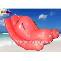 Buy cheap Pink Beach Custom Inflatable Water Games Teetertotter With 12 Months Warranty from wholesalers