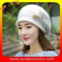 Buy cheap QF17002  Sun Accessory customized fashion knitted beanie hats for ladies  ,Hats in stock MOQ only 3 pcs from wholesalers