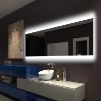 Buy cheap Illuminated Square LED Bathroom Mirror With Radio Backlit Lighted Vanity Mirror Wall Mount from wholesalers