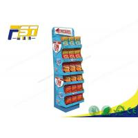 Buy cheap Advertising Pop Cardboard Floor Displays Stand Large Load Bearing Capacity For Snacks from wholesalers