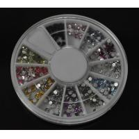 Buy cheap Round-High Quality Colors Nail Art Rhinestones Glitters Gems Nail Art Decoration Wheel from wholesalers