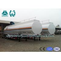 Air Suspension 39 Cbm Fuel Tanker Semi Trailer For Petroleum / Gasoline
