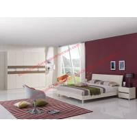 Buy cheap Whole set of White painting furniture for Apartment project solution by MDF bed and in wall customized wardrobe product