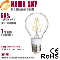Buy cheap Factory directly price E27 6000k China LED filament bulbs wholesaler from wholesalers