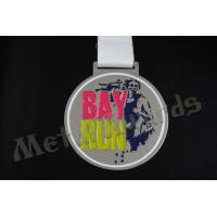 2D Desigh Custom Sports Medals School Medallions 850*25mm Sublimated Ribbon