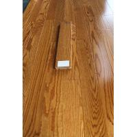 Buy cheap Red oak solid hardwood flooring, smooth surface with color butter rum from wholesalers