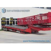 Buy cheap Hydraulic Legs red Flatbed Semi Trailer , 30 T 40 T dual axle trailer from wholesalers