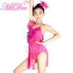 Buy cheap Handmade Beading Latin Dance Wear Diagonal Coin Sequin Fringe Dress Leotard Under from wholesalers