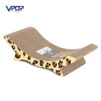Customed Logo Cardboard Cat Scratcher , Eco - Friendly Wave Cat Scratcher