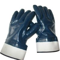 Buy cheap Best Selling OEM working gloves Blue nitrile Glove safety cuff of size M, L, XL of China supplier, Ansell Glove Quality. from wholesalers