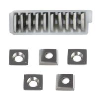 Buy cheap RTing 15mm Wood Working Carbide Cutter Insert Pack of 10, 6 Radius Face R-150mm & Radius Corner,Fits Spiral/Helical Pla from wholesalers