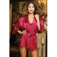 Buy cheap Black Red White Orchid Womens Baby Doll Dress Shalimar Robe Lingerie Set from wholesalers