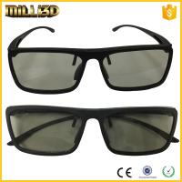 Buy cheap Circular or linear Polarized Disposable Universal 3D Glasses Cinema black color from wholesalers