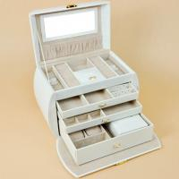 Buy cheap Jewelry Boxes Storage Box For Wedding Gift Box  PU Leather White Color With Hand Carry Jewelry Box Inside from wholesalers