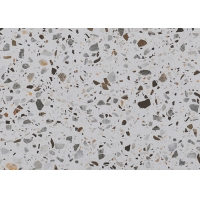 Quality Light Gray 2CM Mix Precast Terrazzo Tile For Swimming Pool for sale