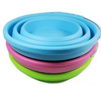 Buy cheap FDA Silicone Rubber Products collapsible silicone bucket with handle camping from wholesalers