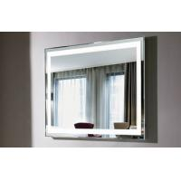 Buy cheap Luxury Large Vanity Mirror With Lights Digital Clock Console Table from wholesalers