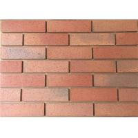 Buy cheap Split Tiles Exterior Thin Brick Red Effect Cladding Easy Construction from wholesalers