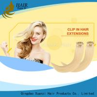 Buy cheap Premium Double Drawn 100% Human Hair Clip In Hair Extension No shedding from wholesalers