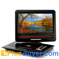 Buy cheap 12.1 Inch Screen Region-free DVD Player with Analog TV (270 Degree Swivel Screen, Copy Function) product