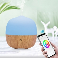 Buy cheap Wood Grain 120ML Wifi Ultrasonic Smart Home Aroma Diffuser from wholesalers