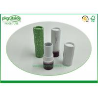 Buy cheap Eco Friendly Cardboard Lipstick Tubes , Brown Paperboard Push Up Lip Balm Tubes from wholesalers