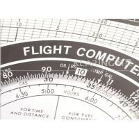 Multi Metal Aviation Slide Rule for Flight Training School Students / Flight Computer KNMP-1
