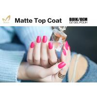 China Easy Soak Off  Nail Art Top Coat Uv Gel No Wipe Matte Type Good Saturation on sale