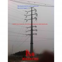 Buy cheap 11035KV drum type four circuit thin wall suspension steel tubular pole from wholesalers