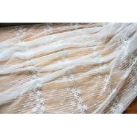Buy cheap Embroidery Floral White Tulle Lace Fabric For Dress Clothing / Scarf / Curtain 51.18 Wide from wholesalers