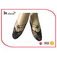 Buy cheap Pure Ladies Black Ankle Socks Hallow Out Girls Nylon Footies Socks from wholesalers