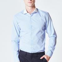 Buy cheap Striped Mens Long Sleeve Button Down Dress Shirts Wrinkle Resistant For Office Work from wholesalers