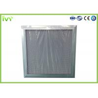 Buy cheap H11 H12 H13 Deep Pleated Hepa Filter , Hepa Furnace Filter With Large Dust Holding Capacity from wholesalers