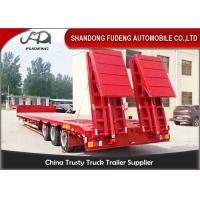 Buy cheap Gooseneck Lowboy Trailer Semi 3 Axle Carry Heavy Duty Equipment Trailer Low Loader from wholesalers