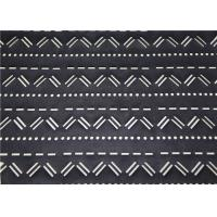 Buy cheap Perforated Black Leather Fabric Mustache Design , Punched Synthetic Leather Fabric from wholesalers