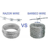 Buy cheap Hot Dipped Galvanized/PVC Coated BTO12 BTO22 CBT65 Razor Wire/ Stainless Steel Razor Blade Barbed Wire from wholesalers